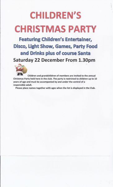 Childrens Christmas Party 2018 Cullingworth Con Club